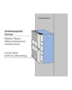 Unterbauplatte UBP-Corner D200