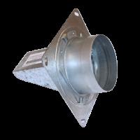 Brandschutzklappe Rohreinbau D75-100