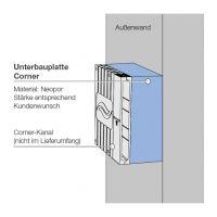 Unterbauplatte UBP-Corner D160