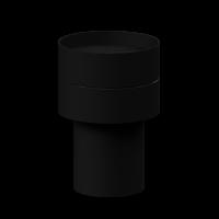 Wetterschutzhaube-Top schwarz-RAL9005
